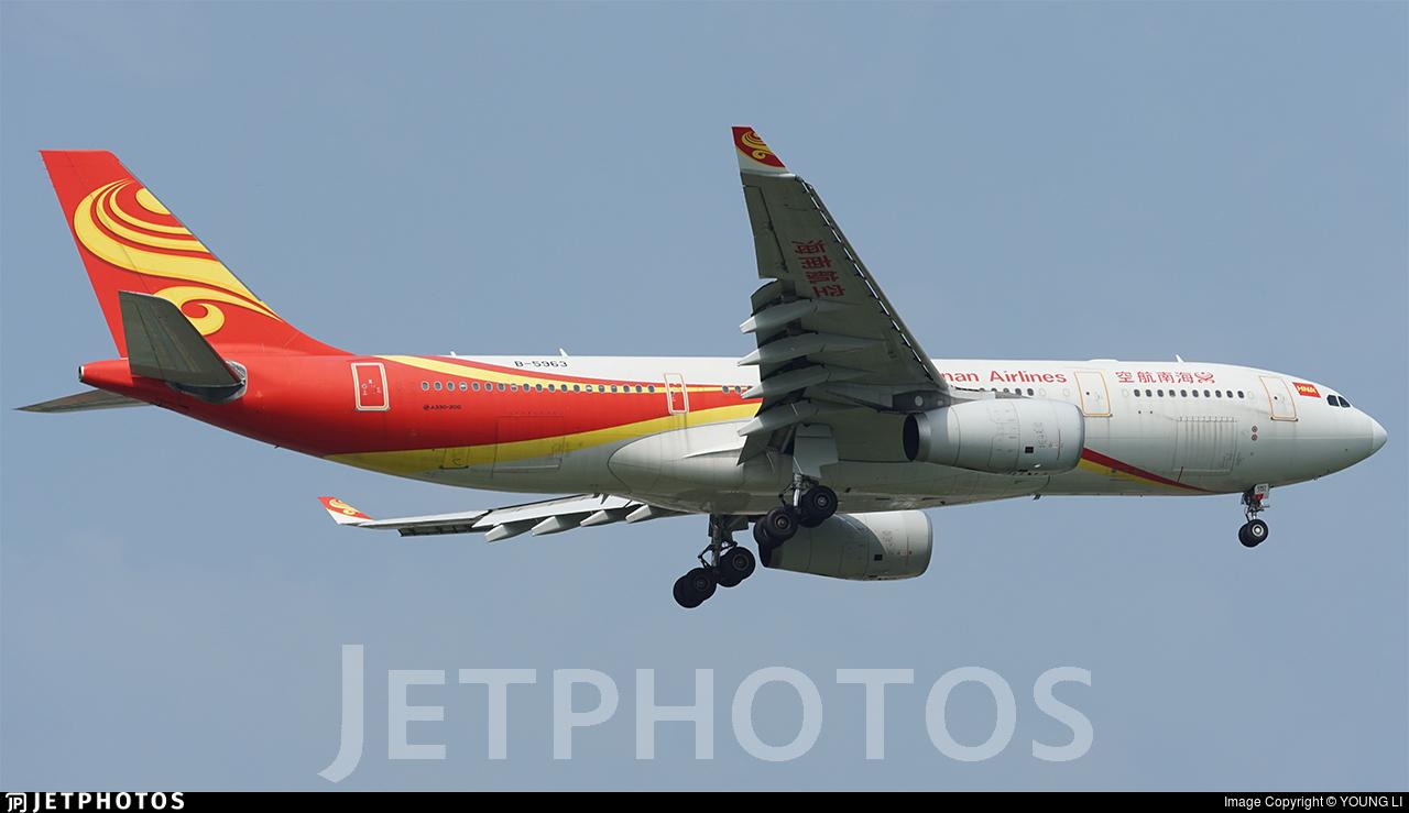 B-5963 - Airbus A330-243 - Hainan Airlines