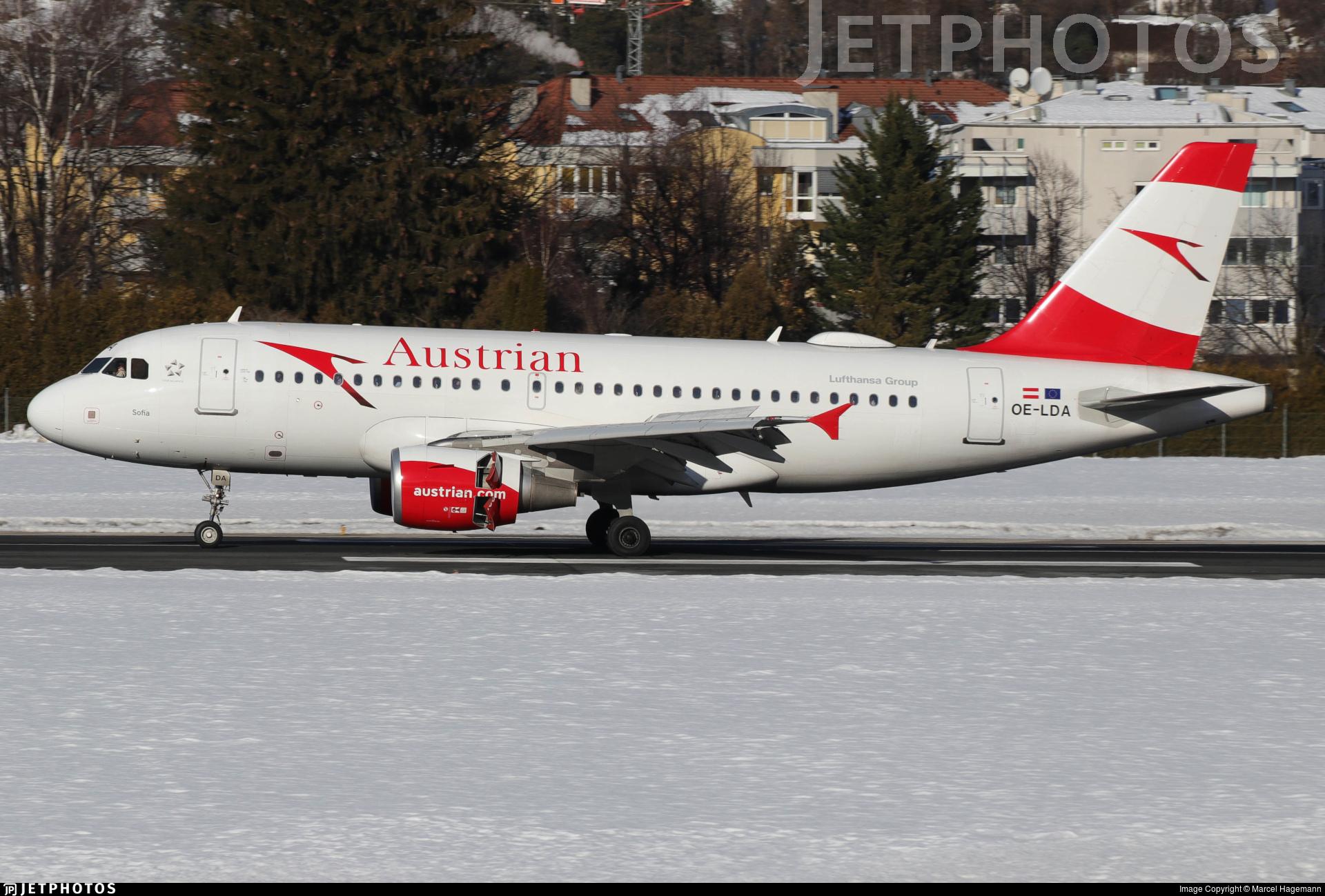 OE-LDA - Airbus A319-112 - Austrian Airlines