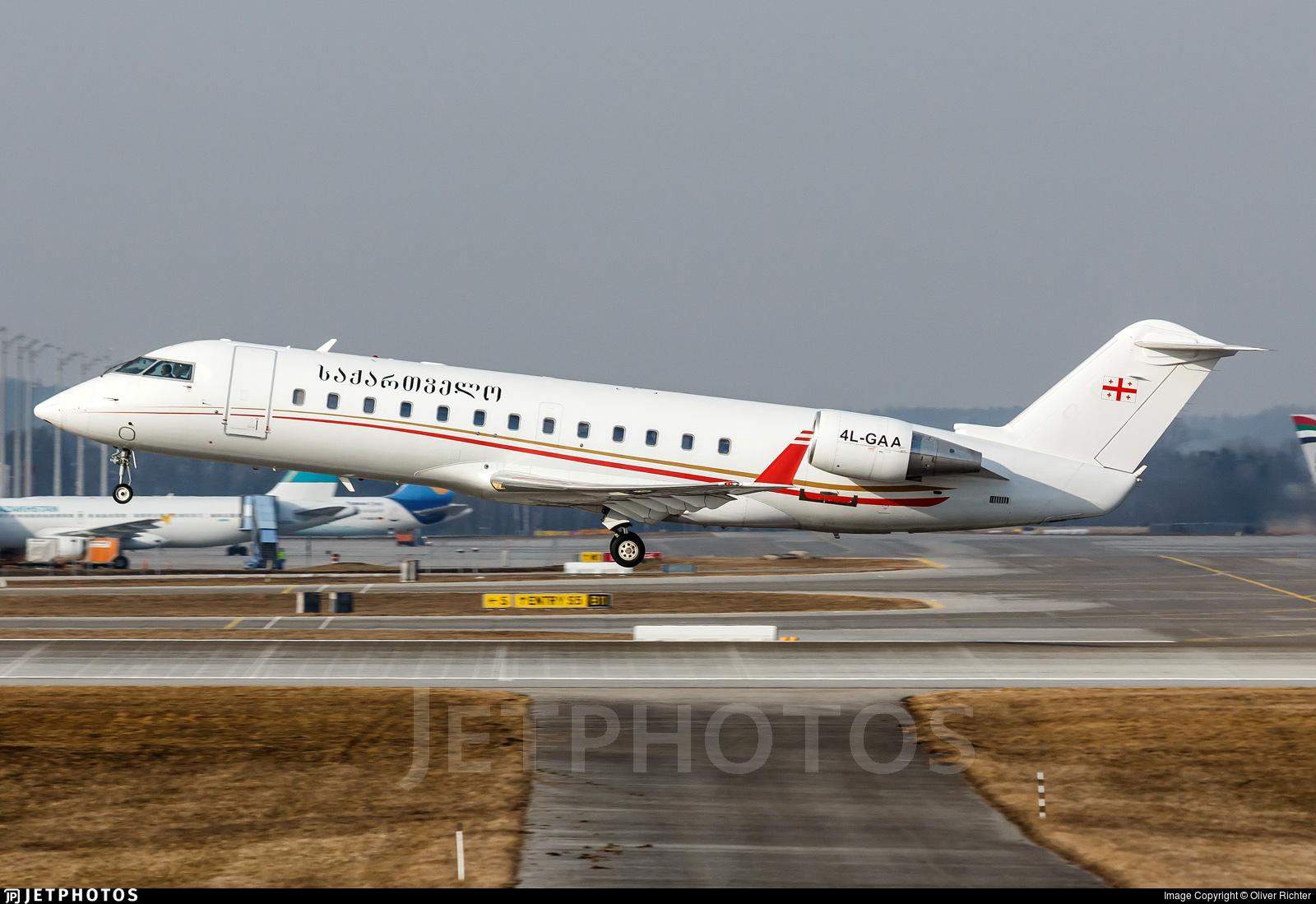4L-GAA - Bombardier CL-600-2B19 Challenger 850 - Georgian Airways
