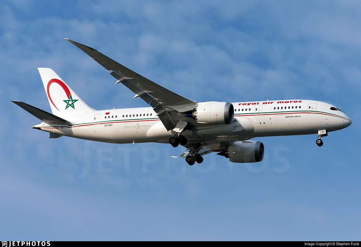 CN-RGC - Boeing 787-8 Dreamliner - Royal Air Maroc (RAM)