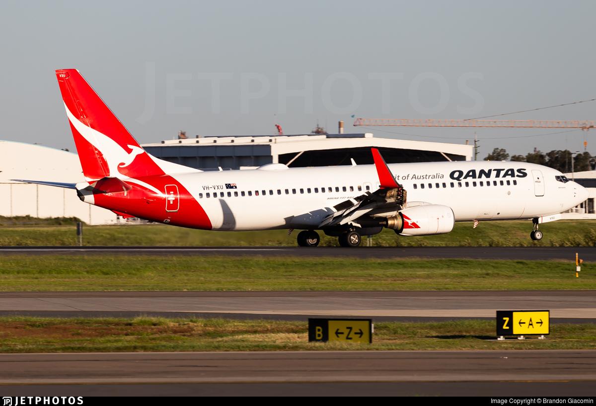 VH-VXU - Boeing 737-838 - Qantas