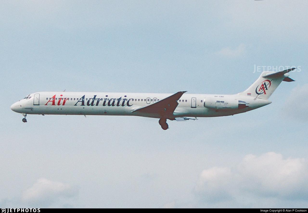 9A-CBD - McDonnell Douglas MD-82 - Air Adriatic